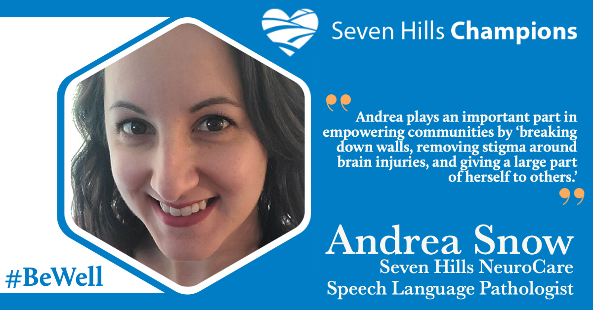 Meet Andrea Snow - Today's Staff Champion