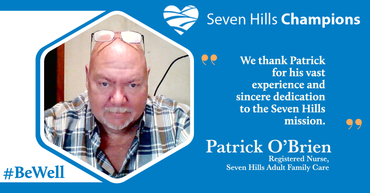 Meet Patrick O'Brien, today's staff Champion