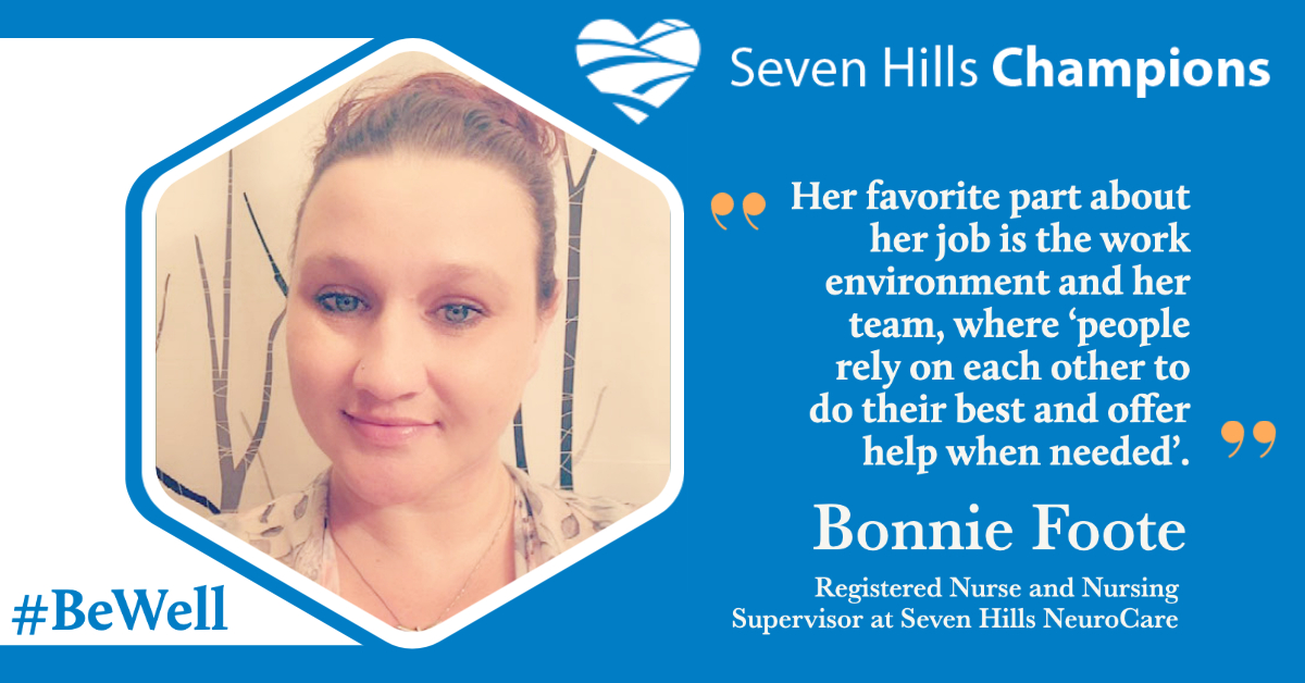 Introducing Bonnie Foote, this week's Staff Champion
