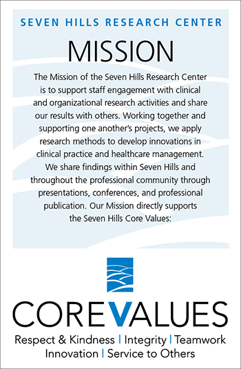 Seven Hills Research Center mission statement and core values